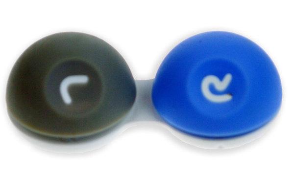 3D púzdro - pogumované modro-sivé