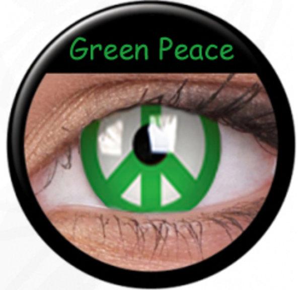 Phantasee Crazy šošovky - Green Peace (2 ks ročné) - nedioptrické - výpredaj 12/2017