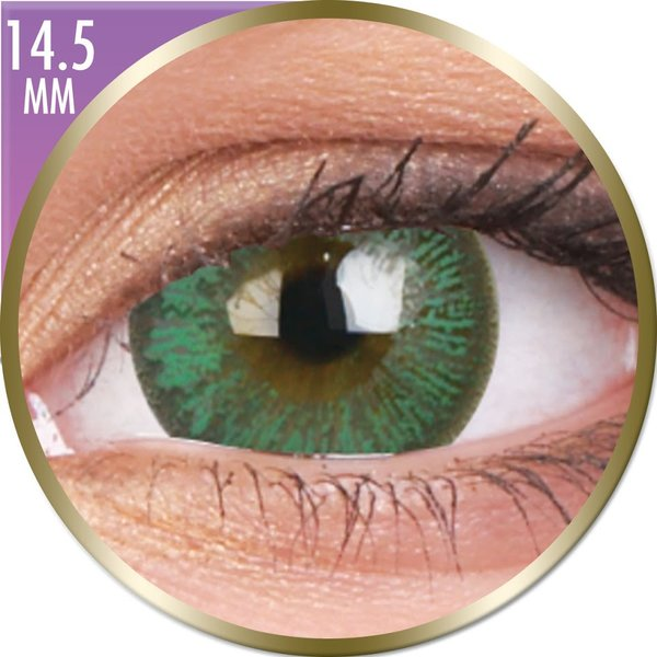 Phantasee Big Eyes - Paris Green (2 šošovky mesačné) - nedioptrické - dopredaj