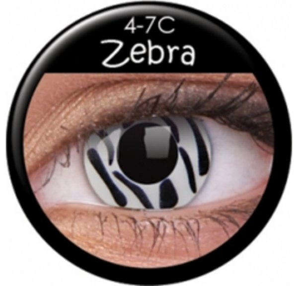 ColourVe Crazy šošovky - Zebra (2 ks trojmesačné) - nedioptrické - exp.05/2018