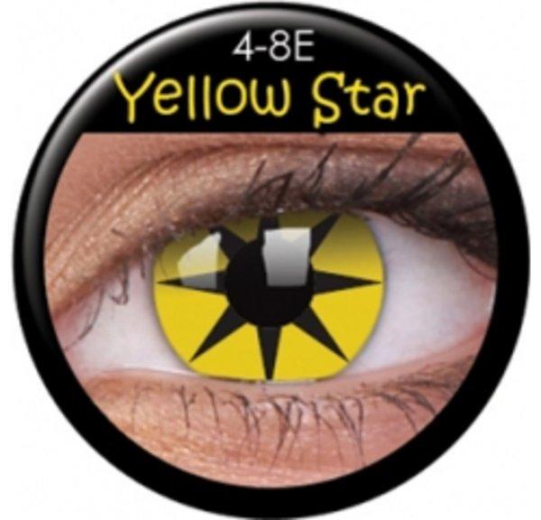 ColourVue Crazy šošovky - Yellow Star (2 ks trojmesačné) - nedioptrické - exp.06/2018