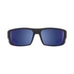 SPY slnečné okuliare Dirk Matte Black Blue - Polarizačné