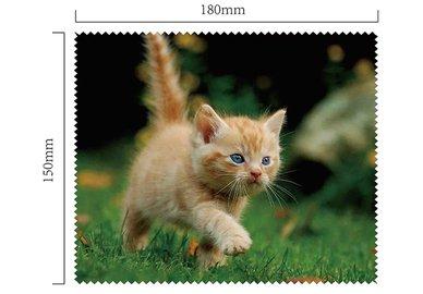 Handričku na okuliare z mikrovlákna - mačiatko