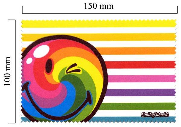 Handričku na okuliare z mikrovlákna Smiley - dúha