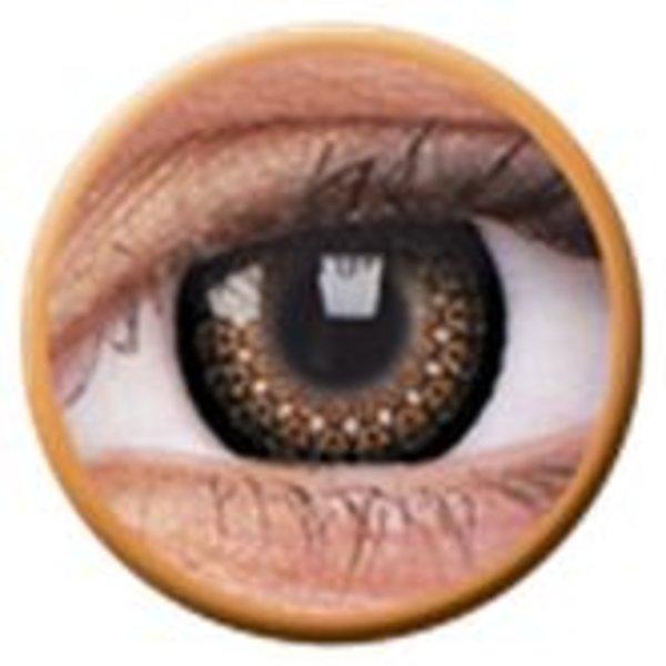 ColourVue Eyelush - Brown (2 šošovky trojmesačné) - nedioptrické