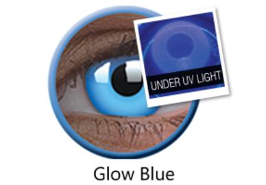ColorVue Crazy šošovky UV svietiace - Glow Blue (2 ks ročné) - nedioptrické