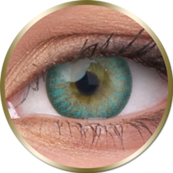 Phantasee Natural - Turquoise (2 šošovky trojmesačné) - nedioptrické
