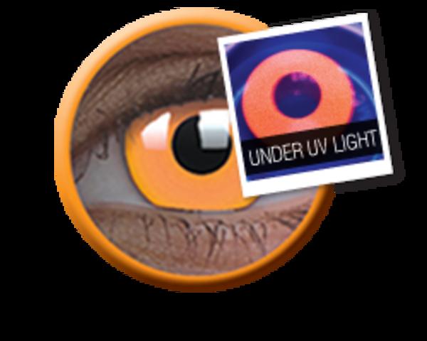 ColourVue Crazy šošovky UV svietiace - Glow Orange (2 ks ročné) - nedioptrické - exp.04/2020