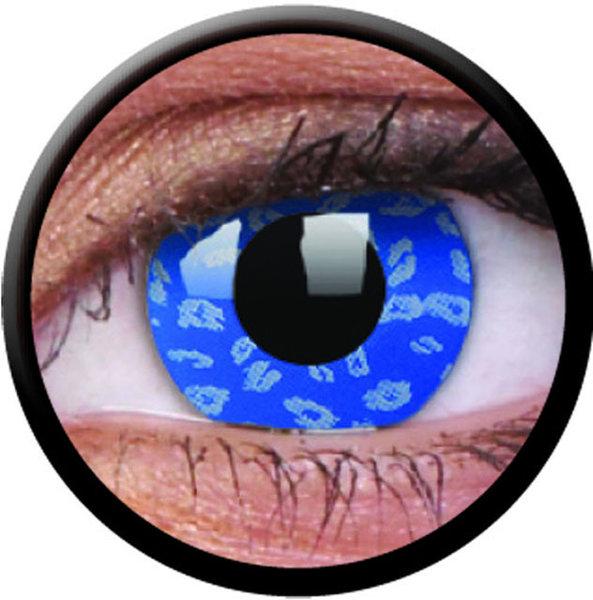 ColourVue Crazy šošovky - Blue Leopard (2 ks ročné) - nedioptrické