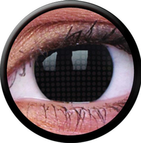 ColourVue Crazy šošovky - Black Screen (2 ks ročné) - nedioptrické - exp.02/21