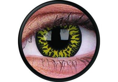 ColourVue Crazy šošovky - Yellow Eclipse (2 ks ročné) - nedioptrické