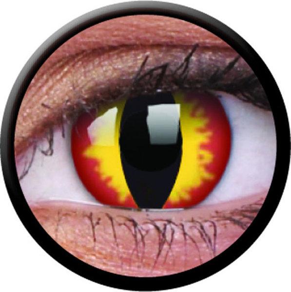 ColourVue Crazy šošovky - Dragon Eyes (2 ks trojmesačné) - nedioptrické