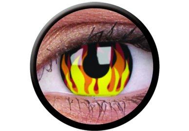 ColourVue Crazy šošovky - Flame Hot (2 ks trojmesačné) - nedioptrické