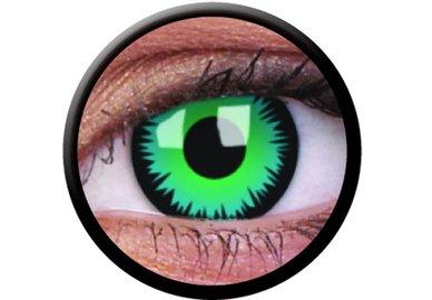 ColourVue CRAZY ŠOŠOVKY - Green Werewolf (2 ks trojmesačné) - dioptrické
