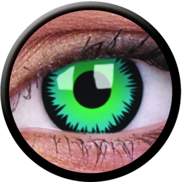 ColourVue CRAZY ŠOŠOVKY - Green Werewolf (2 ks trojmesačné) - dioptrické -5,00 exp.08/2020