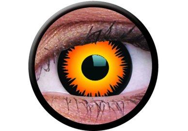 ColourVue Crazy šošovky - Orange Werewolf (2 ks trojmesačné) - dioptrické - poškodený obal