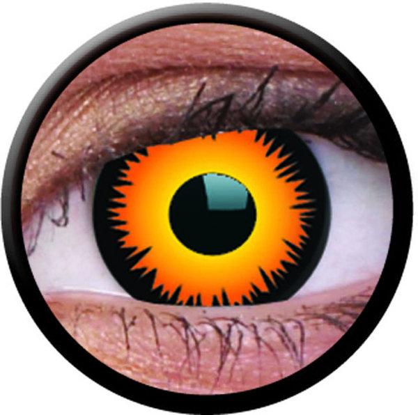 ColourVue Crazy šošovky - Orange Werewolf (2 ks trojmesačné) - dioptrické - exp.04/2020