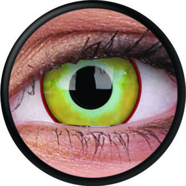 ColourVue Crazy šošovky - Yellow Plague (2 ks trojmesačné) - nedioptrické