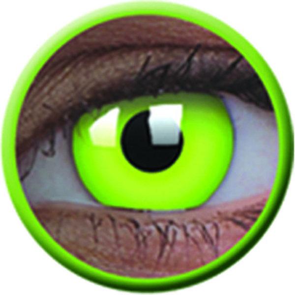 ColourVue Crazy šošovky UV svietiace - Glow Green (2 ks ročné) - nedioptrické - poškodený obal