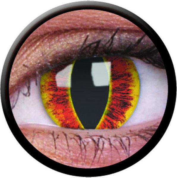 ColourVue Crazy šošovky - Saurons Eye (2 ks ročné) - nedioptrické - poškodený obal