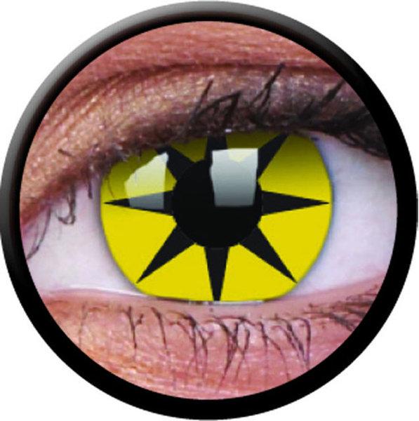 ColourVue Crazy šošovky - Yellow Star (2 ks ročné) - nedioptrické - poškodený obal