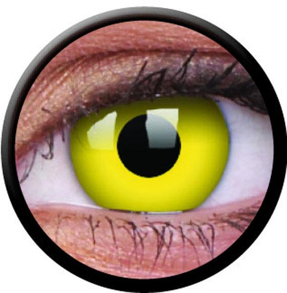 ColourVue Crazy šošovky - Yellow (2 ks trojmesačné) - dioptrické 10/2018  2 ks trojmesačné dioptrické - Yellow