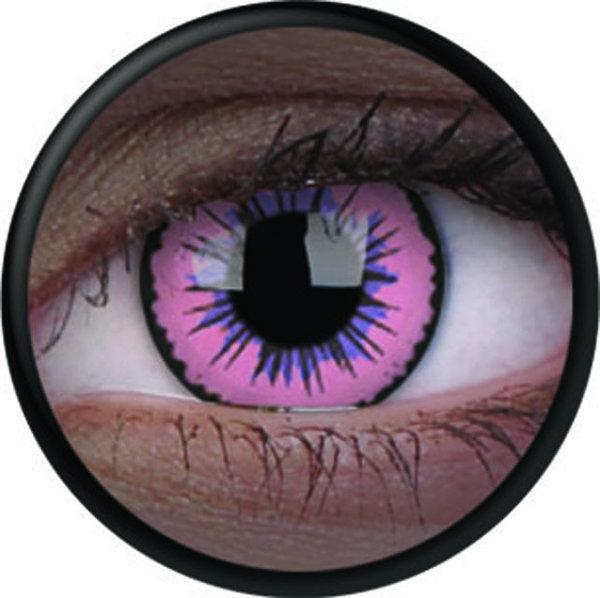ColourVue Crazy šošovky UV svietiace - Glow Pink Jubilee (2 ks ročné) - nedioptrické