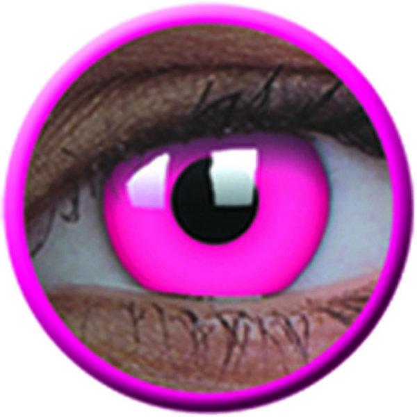 ColourVue Crazy šošovky UV svietiace - Glow Pink (2 ks ročné) - nedioptrické - exp.04/2020