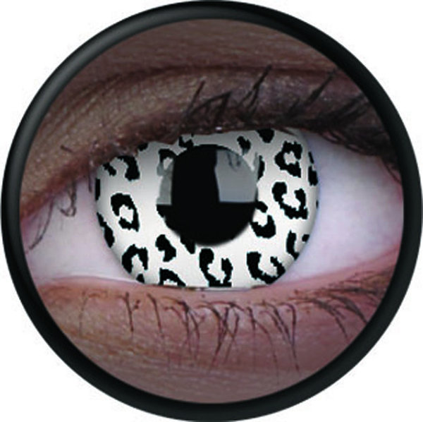 ColourVue Crazy šošovky UV svietiace - Glow White Leopard (2 ks ročné) - nedioptrické