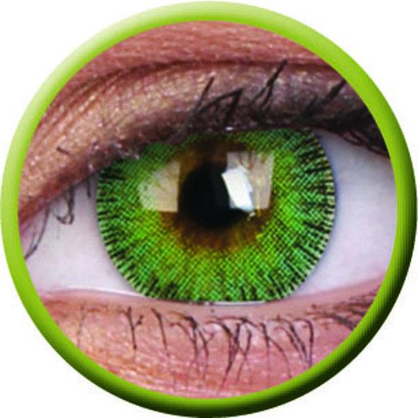 ColourVue Fusion - Yellow Green (2 šošovky trojmesačné) - nedioptrické