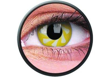 Phantasee Crazy šošovky - Yellow Spin (2 ks ročné) - nedioptrické - exp.02/2021